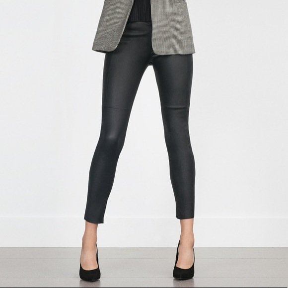 c8bcc2431f3156 Zara Pants | 100 Leather Leggings | Poshmark
